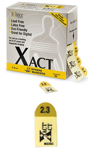 Xact tomosynthesis/CT BB markers